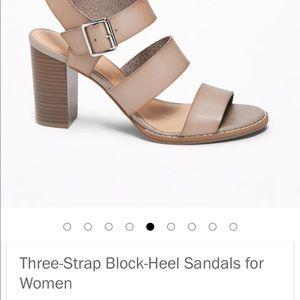 8b37827f92be0 Old Navy Shoes | Iso Three Strap Block Heel Sandals | Poshmark